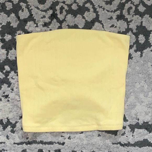 american eagle yellow tube top